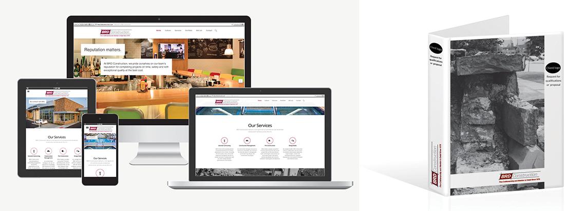 BRD Construction website design and development