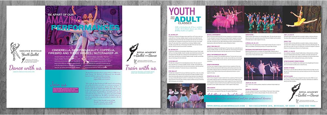 Buffalo Youth Ballet collateral design